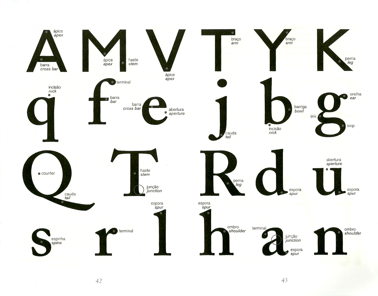 Linguagem Gráfica » Anatomia tipográfica