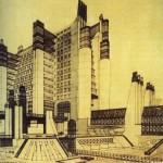 Antonio Sant'Elia Perspectiva da Citta Nuova 1919