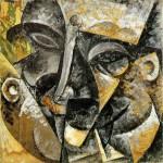 Boccioni - Dinamismo della testa di un uomo -   1914